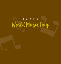 World music day background vector