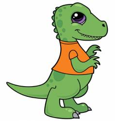 baby dinosaur character vector image vector image