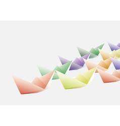 Colorful paper ships vector image