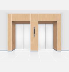 elevator door vector image