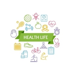Health Life Fitness Concept vector image vector image