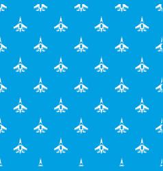 Jet fighter plane pattern seamless blue vector