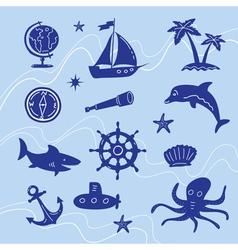 sea adventure set vector image