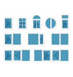 windows with white frames vector image vector image