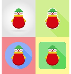 baby flat icons 04 vector image
