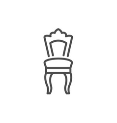 classic chair line icon vector image