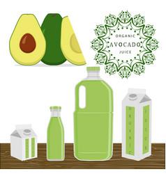 the theme avocado vector image vector image