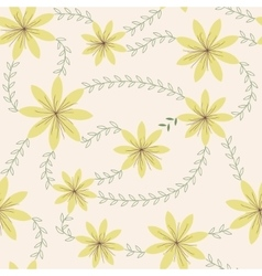 Yellow flowers with stamens pattern vintage vector image vector image