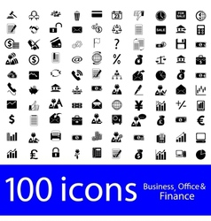 icons business office finance vector image