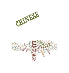 learn to speak chinese text background word cloud vector image