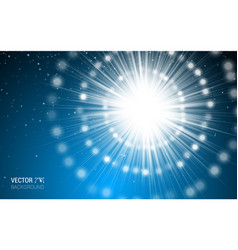 Magic light blue holiday burst effect realistic vector