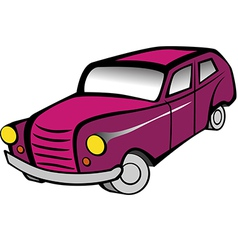 Old Car 2 Pink vector image vector image