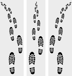 trail of shoe vector image vector image