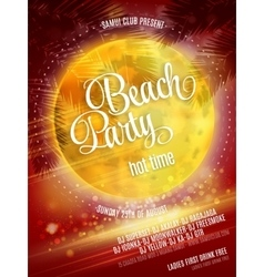 Beach Party Poster EPS 10 vector image