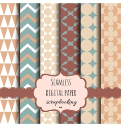 Collection of Digital Papers vector image vector image