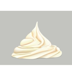 cream on a grey background vector image vector image