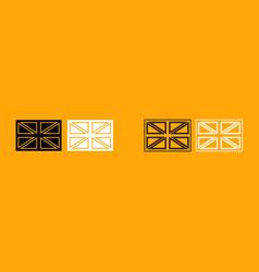 flag united kingdom black and white set icon vector image