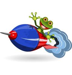 Frog in a Rocket vector image vector image