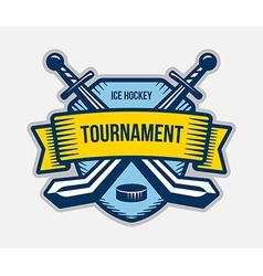 Ice hockey winter sport tournament logo vector
