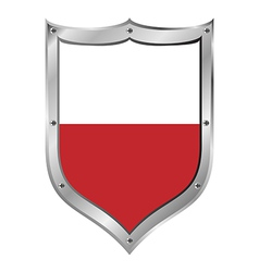 Poland flag button vector image