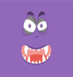A purple monster face vector