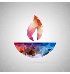 Abstract creative concept icon of diwali vector