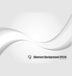abstract gray wave modern stream background vector image