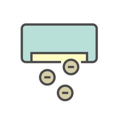 Air conditioner control icon design editable vector