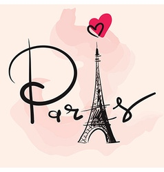 Artistic paris eiffel tower design vector image