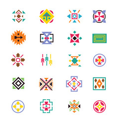 aztec ethnicity style signs american indian vector image