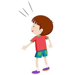 Back side of a little boy vector image