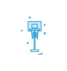 basket ball icon design vector image