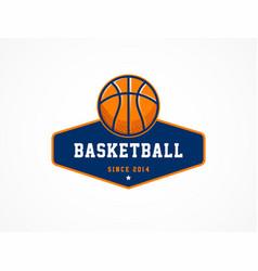 basketball logo american sports symbol and icon vector image