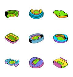 big arena icons set cartoon style vector image vector image