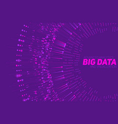 big data circular violet vector image