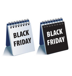 black friday calendar realistic 3d vector image
