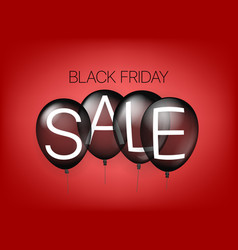 black friday sale concept with air balloons vector image