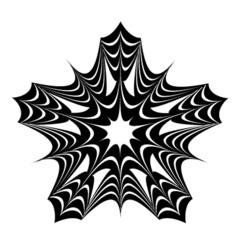 Black star pattern vector