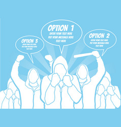 businessman option template step ranking blue 4 vector image