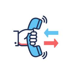 Call back - modern line design single icon vector