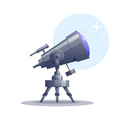Cartoon telescope vector