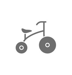 children bicycle grey icon isolated on white vector image