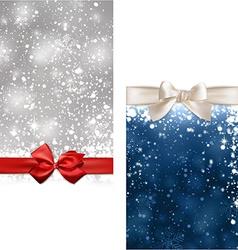 Christmas abstract banners vector image