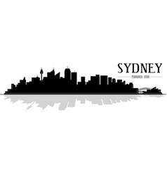 City sydney skyline silhouette vector