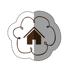 Color cloud service connect icon vector