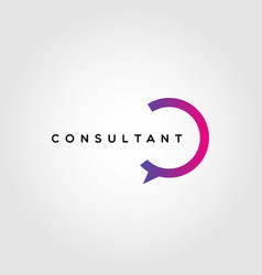 Colorful consultant logo design template vector