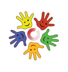 Colorfull palm of the hands vector