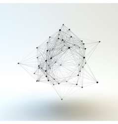 Connection Structure Wireframe vector image