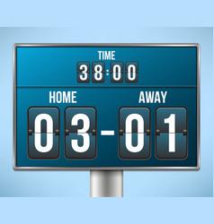 creative of soccer football vector image