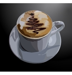 Cup coffee vector
